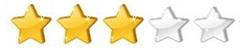 3 hvězdičky